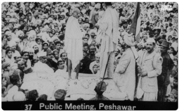 Gandhi addressing Khilafat Rally