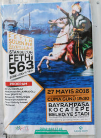 Poster Announcing the 563rd Celebration of the Fall of Constantinople