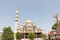The Yaani Mosque. Simple, but towering from the outside, but beautiful from the inside. Near the Spice Bazaar