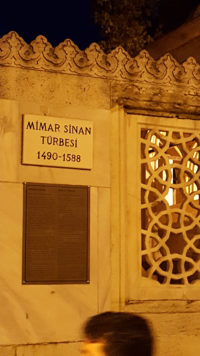 The modest tomb of one of the greatest Muslim Architect, Sinan, who was responsible for designing the best of Turkish Buildings